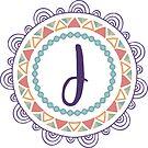 Monogramm-Buchstabe J | Personalisiert | Böhmisches Design von PraiseQuotes