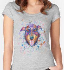 Yagd terrier portrait Women's Fitted Scoop T-Shirt