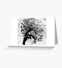 Red Birds in Snow Greeting Card