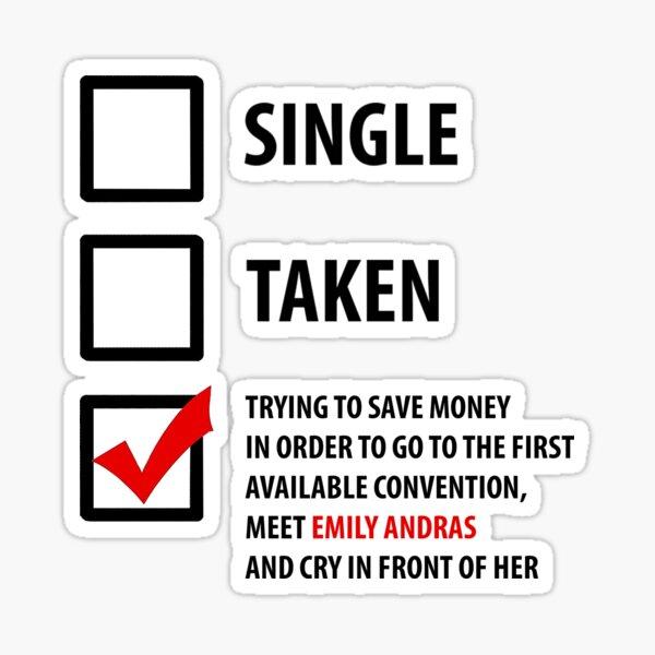 Single, Taken... Wynonna Earp Edition #4 Sticker