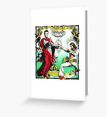 Jesus and Elvis Greeting Card