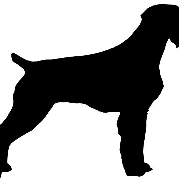 german wirehaired pointer silhouette by marasdaughter