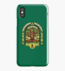 Link meets the Great Deku Tree iPhone Case/Skin