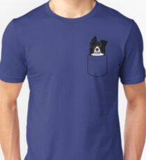 Camiseta ajustada Border Collie Dog en tu bolsillo