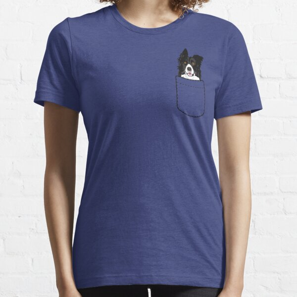 Border Collie Dog In Your Pocket Essential T-Shirt