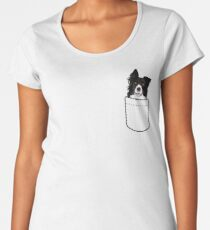 Border Collie Dog In Your Pocket Women's Premium T-Shirt