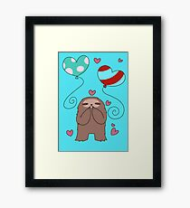 Sloth Loves Balloons Framed Print