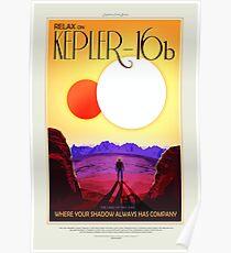 Kepler 16b, Reiseplakat Poster