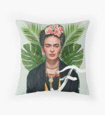 Frida Collage Throw Pillow