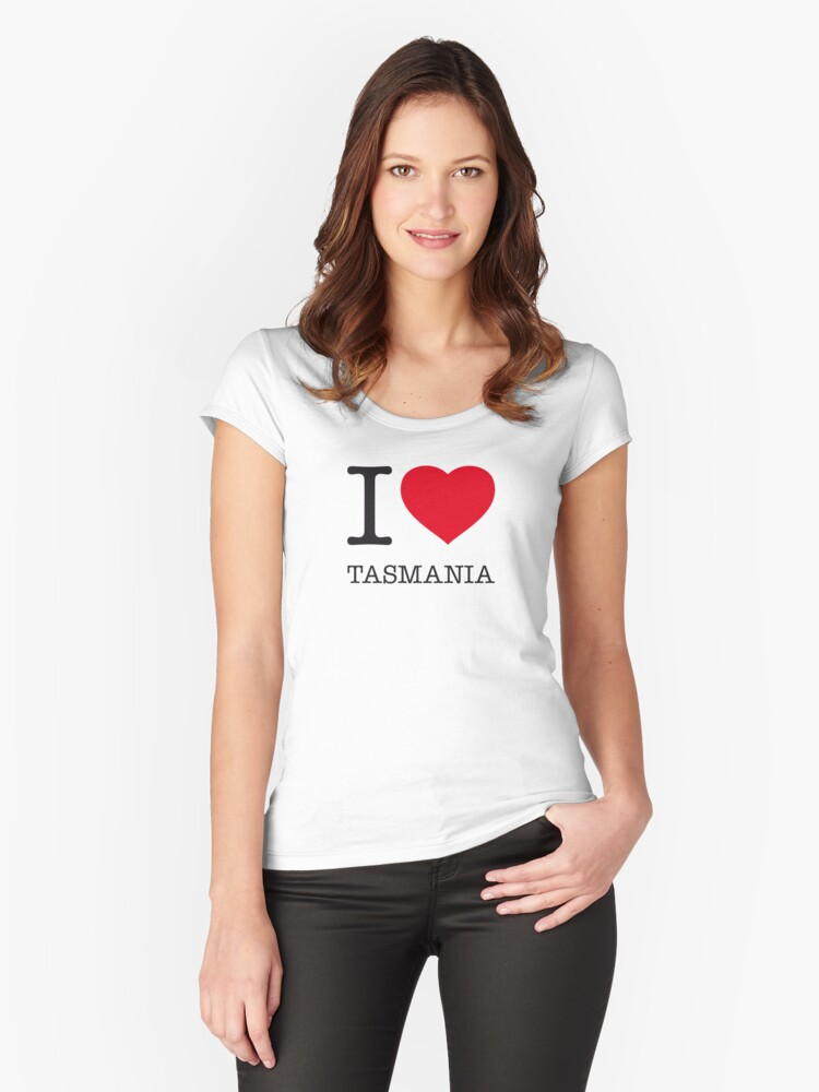 I ♥ TASMANIA Women's Fitted Scoop T-Shirt Front