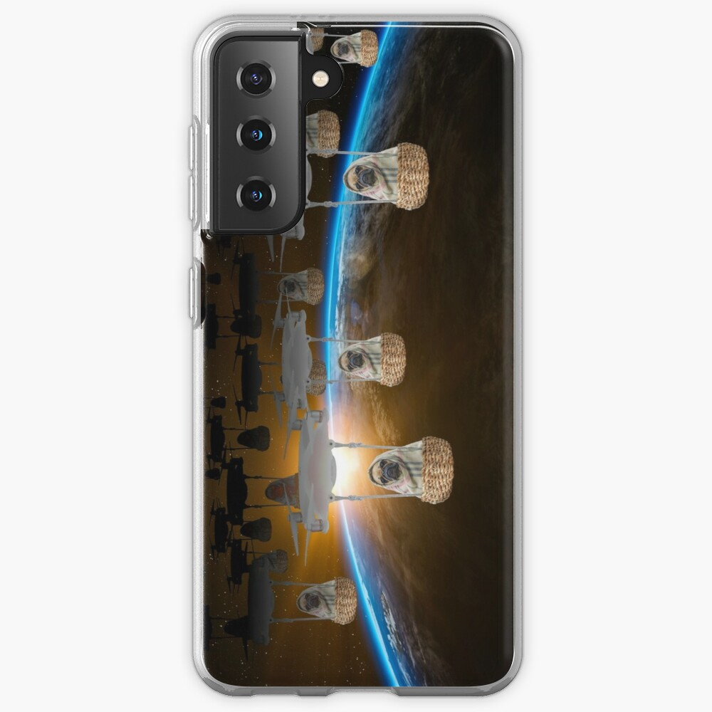 Pugvasion Alien Invasion by Drone Case & Skin for Samsung Galaxy
