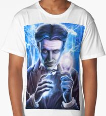 Nikola Tesla - Man of Lightning Long T-Shirt