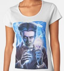 Nikola Tesla - Man of Lightning Women's Premium T-Shirt