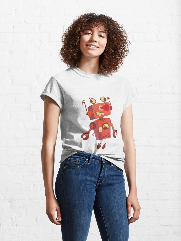Alternate view of robot toy has dizziness Classic T-Shirt