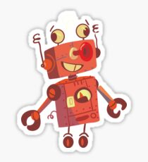 robot toy has dizziness Sticker