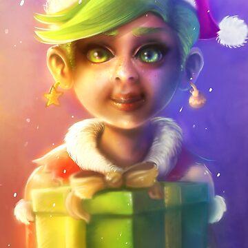 Christmas Gnome, Warcraft Fanart by MoonpixStudios