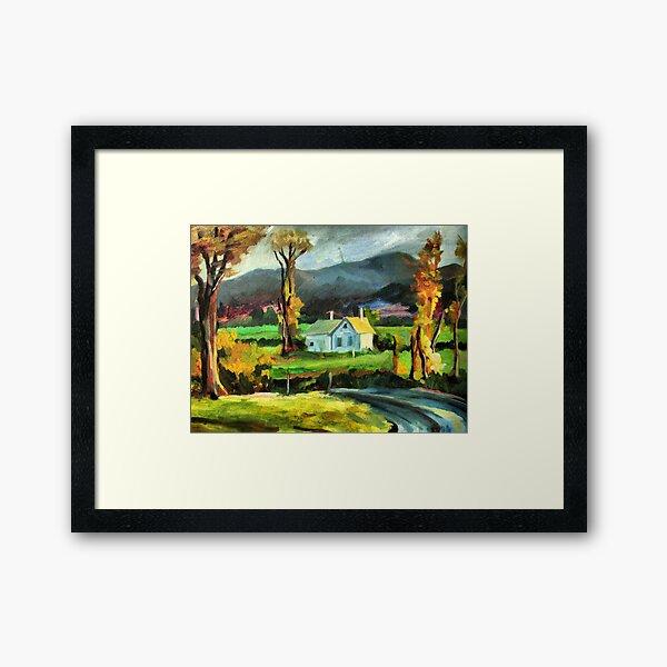 Solitary hut Framed Art Print