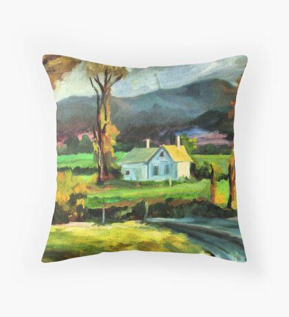 Solitary hut Throw Pillow