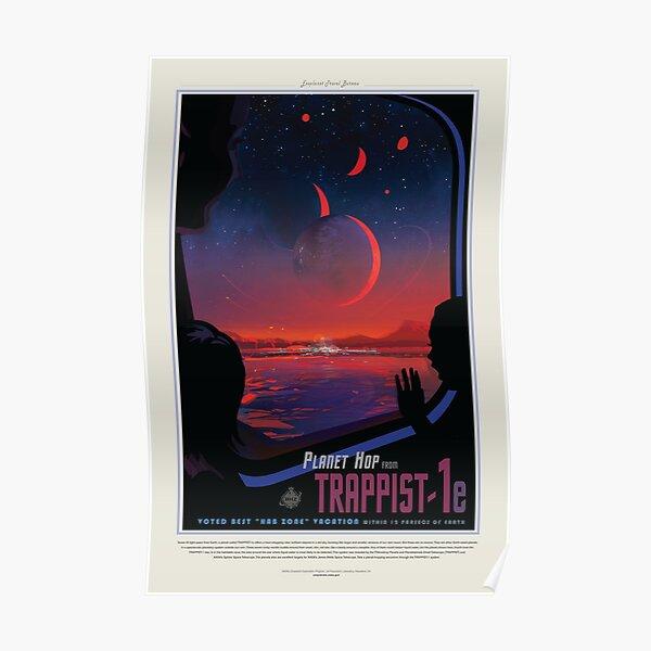 Trappist 1e, Travel Poster Poster