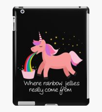 Unicorn Barf: Where Rainbow Jellies Really Come From iPad Case/Skin