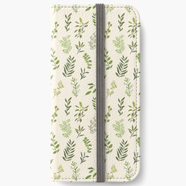 Leaf Pattern iPhone Wallet