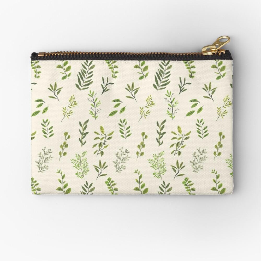 Leaf Pattern Zipper Pouch