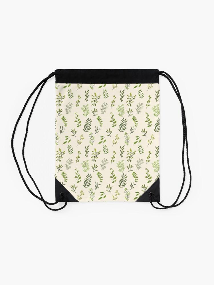 Alternate view of Leaf Pattern Drawstring Bag