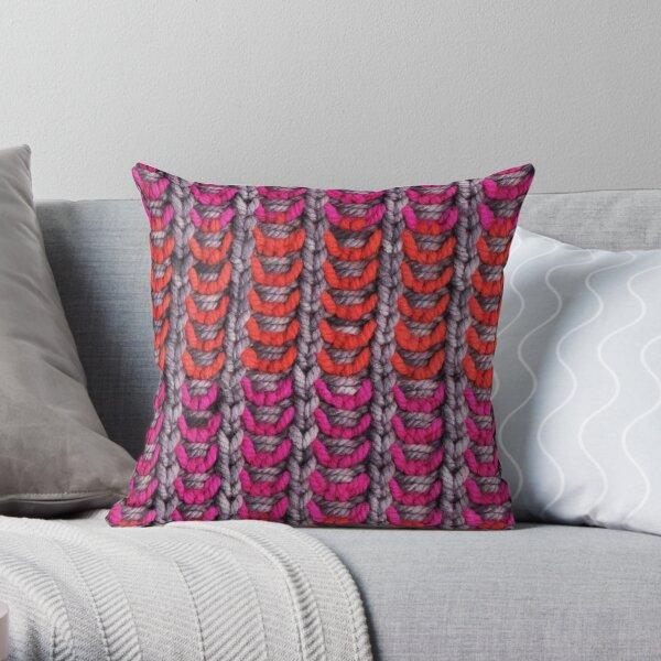 Neon Mikkey Knit Throw Pillow