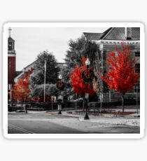 Red Trees Sticker
