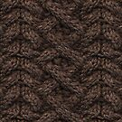 Brown Haka Cable Knit by Lee Meredith