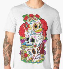 Sugar Skulls Day of the Dead Dia de los Muertos T-shirt Men's Premium T-Shirt