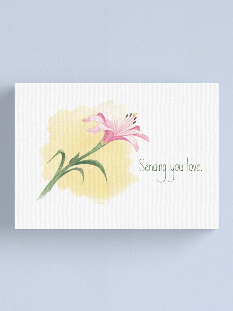 Alternate view of The Last Lily to Bloom (with text) Canvas Print