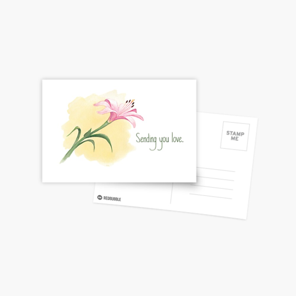 The Last Lily to Bloom (with text) Postcard