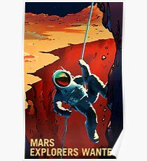 Entdecker auf der Reise zum Mars gesucht Poster