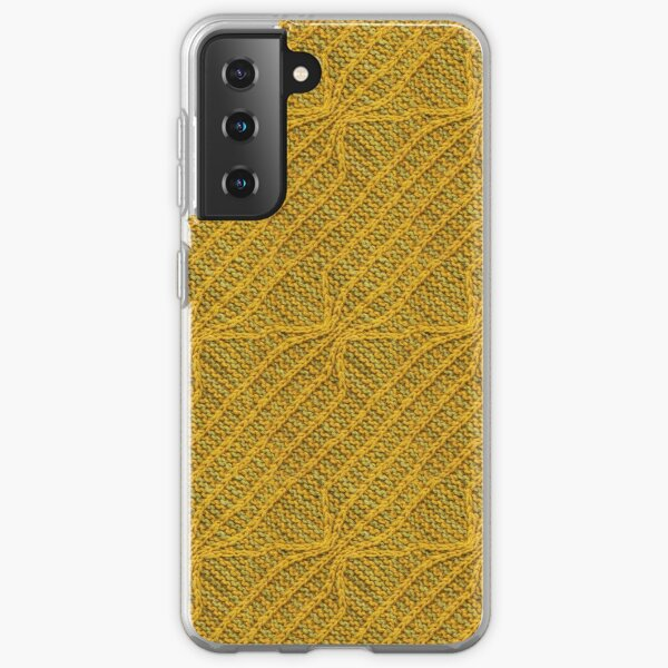 Yellow Lines Knit Samsung Galaxy Soft Case