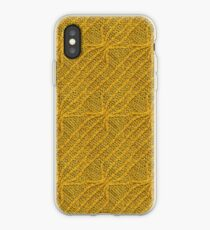 Yellow Lines Knit iPhone Case