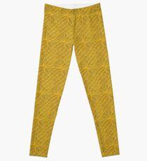 Yellow Lines Knit Leggings