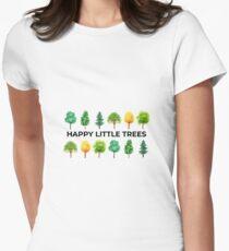 Camiseta entallada para mujer Happy Little Trees