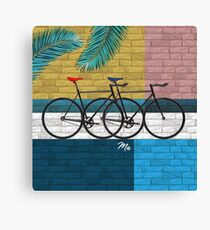 bicycle in composition Canvas Print