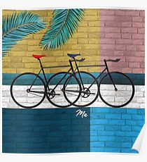 bicycle in composition Poster