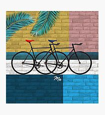 bicycle in composition Photographic Print