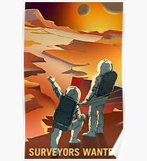 Landvermesser wollten den Mars und seine Monde erkunden Poster