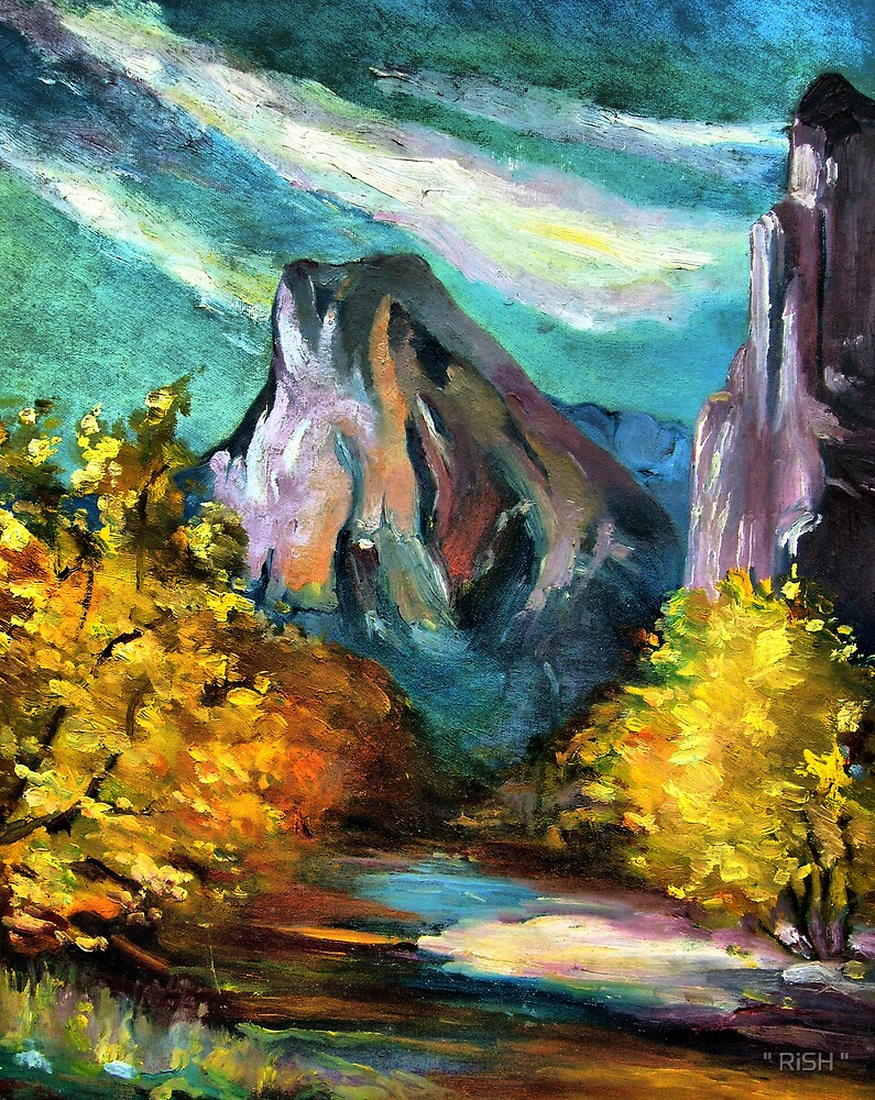 """Mountains and trees by """" RiSH """""""