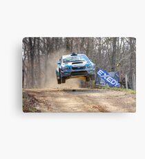 Flying Subaru Metal Print