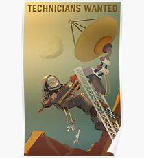 Techniker wollten unsere Zukunft auf dem Mars entwickeln Poster