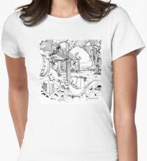 Architectural Black and White Dress Shirt Skirt Chiffon Tank Legging  T-Shirt