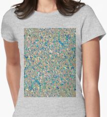 Informel Art Abstract Womens Fitted T-Shirt