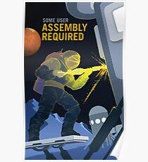 Montage erforderlich, um unsere Zukunft auf dem Mars aufzubauen Poster