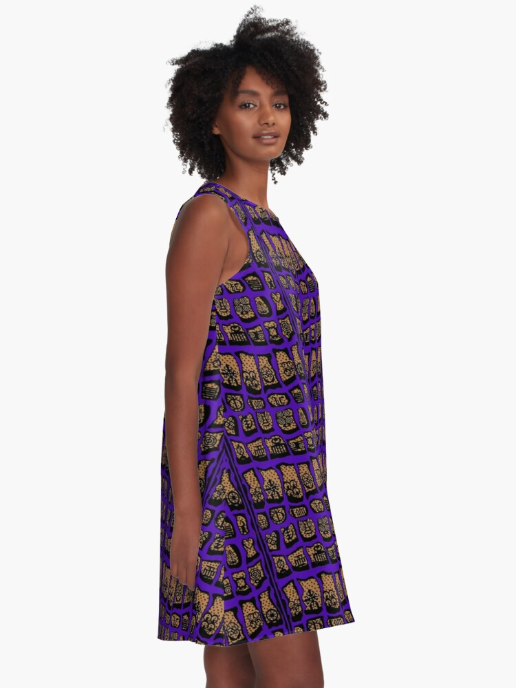 Alternate view of Ultra Violet COTY  A-Line Dress