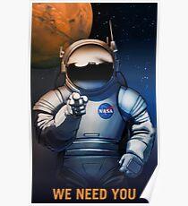 Wir brauchen Sie Poster